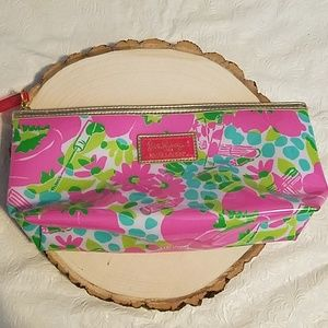Lilly Pulitzer Estee Lauder Flower Cosmetic Case